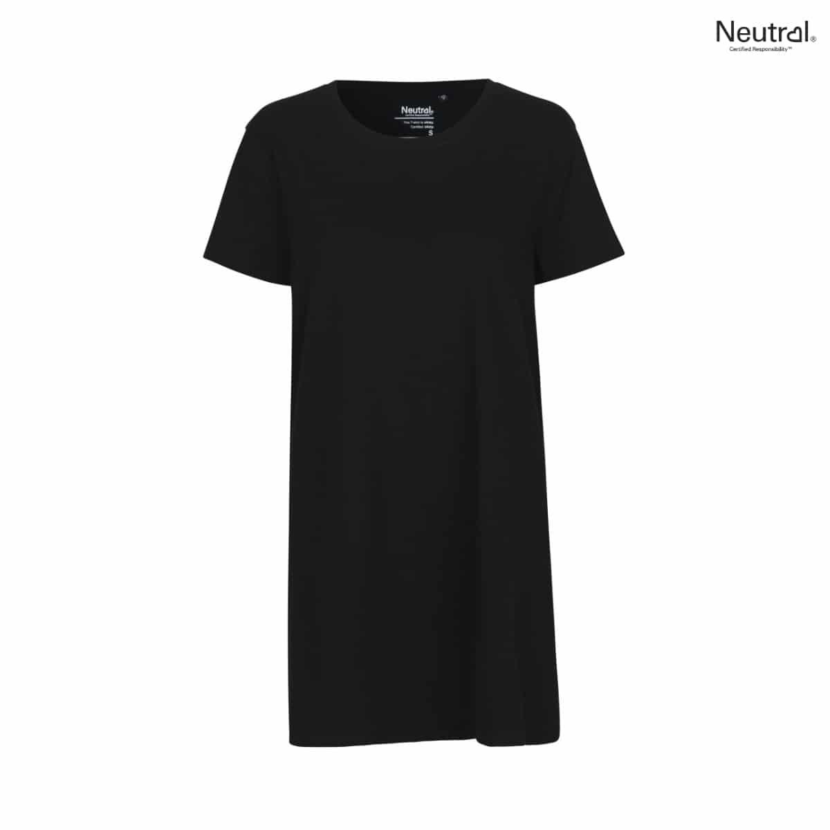 Lång t shirt klänning dammodell i 3 färger